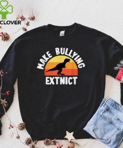 Official Make Bullying ExtinctWe Wear Orange For Unity DayDinosaur T Shirt 5