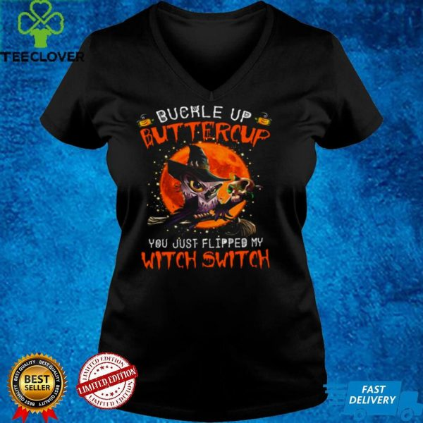 Owl Buckle Up Buttercup You Just Flipped My Witch Switch Skull Halloween Shirt