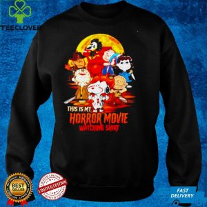 Peanuts characters this is my horror movies watching shirt