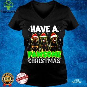 Rottweiler Dog Have A Pawsome Christmas Shirt
