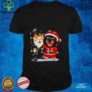 Rottweiler and Dachshund peace Merry Christmas 2021 shirt