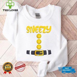 Sneezy Halloween Dwarf Costume Color Matching T Shirt