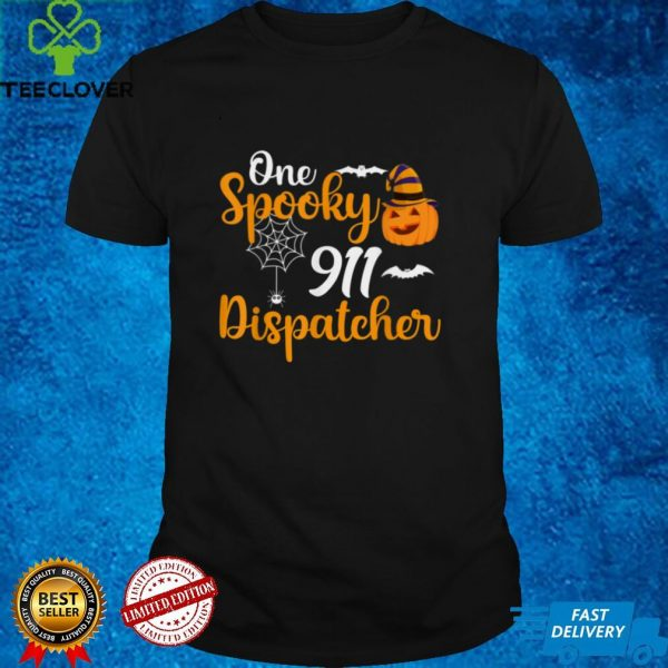 Spooky Emergency 911 Dispatcher Funny Halloween Costume T Shirt