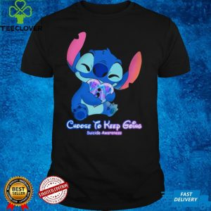 Stitch Choose To Keep Going Suicide Awareness Shirt