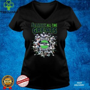 The Seattle Seahawks Football Teams Seahawk All Time Greats Signatures shirt