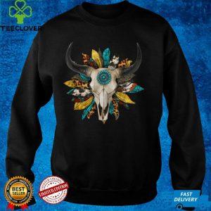 Western Serape Sunflower Cow Bull Skull Cowgirl Rodeo Girl T Shirt